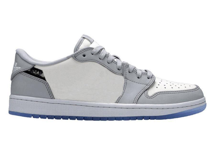 2020 autentici x 1 Scarpe Basso Alto Olimpiadi di basket maschile lupo grigio Sail Photon polvere bianca 1S allenatori sportivi Scarpe Sneakers con la scatola