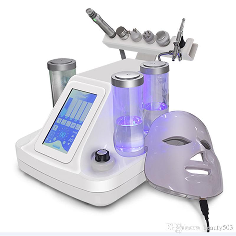 7 في 1 هيدرا جلدي RF BIO رفع سبا الوجه آلة أكوا الجلد تنظيف تقشير المياه الباردة المطرقة بالموجات فوق الصوتية الأكسجين بخاخ Hydrafacial