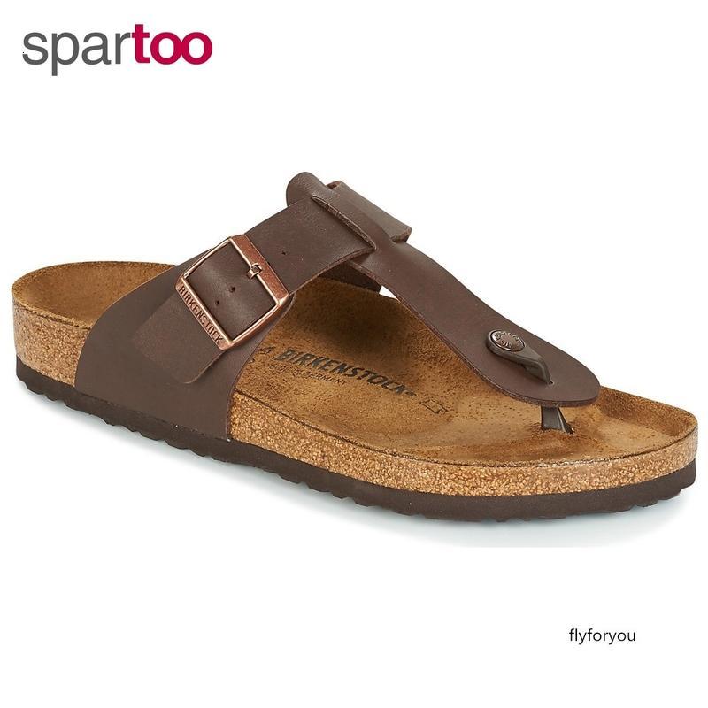 erkek ayakkabıları klip ayakları flip-flop terlik Kahverengi BK046701 soğutmak