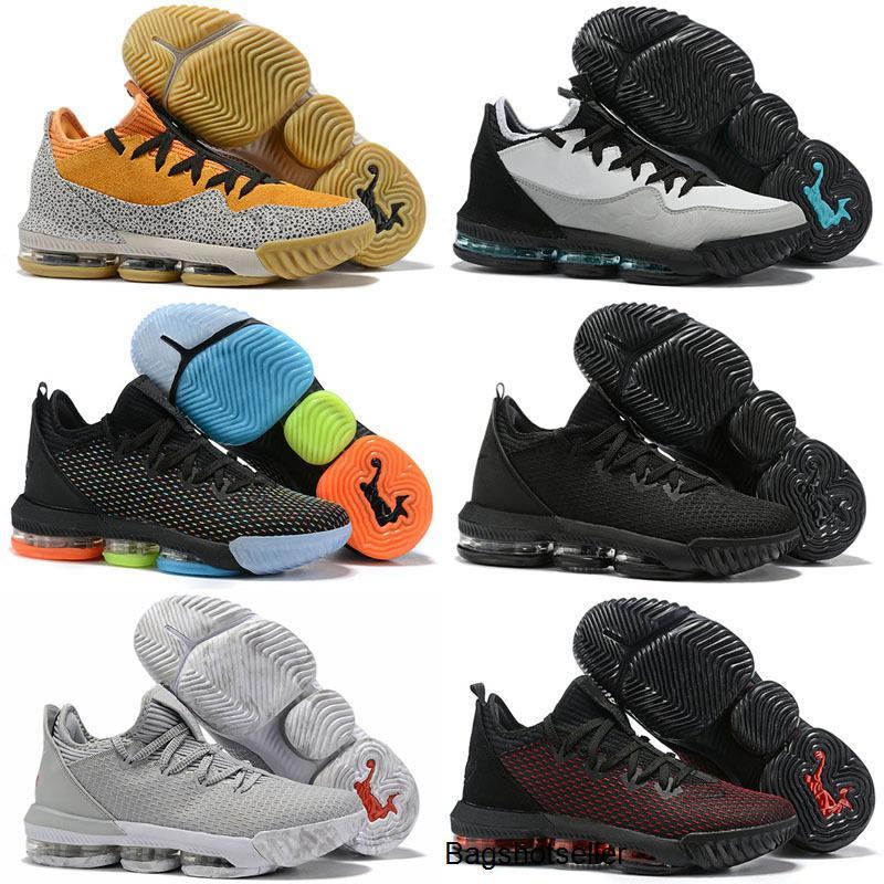 2020 Nuovo 16 XVI Bassa x Atmos Safari di pallacanestro del Mens Scarpe Baskets Camo Colonna sonora Grey BHM Oreo Formatori James 16s Sneakers