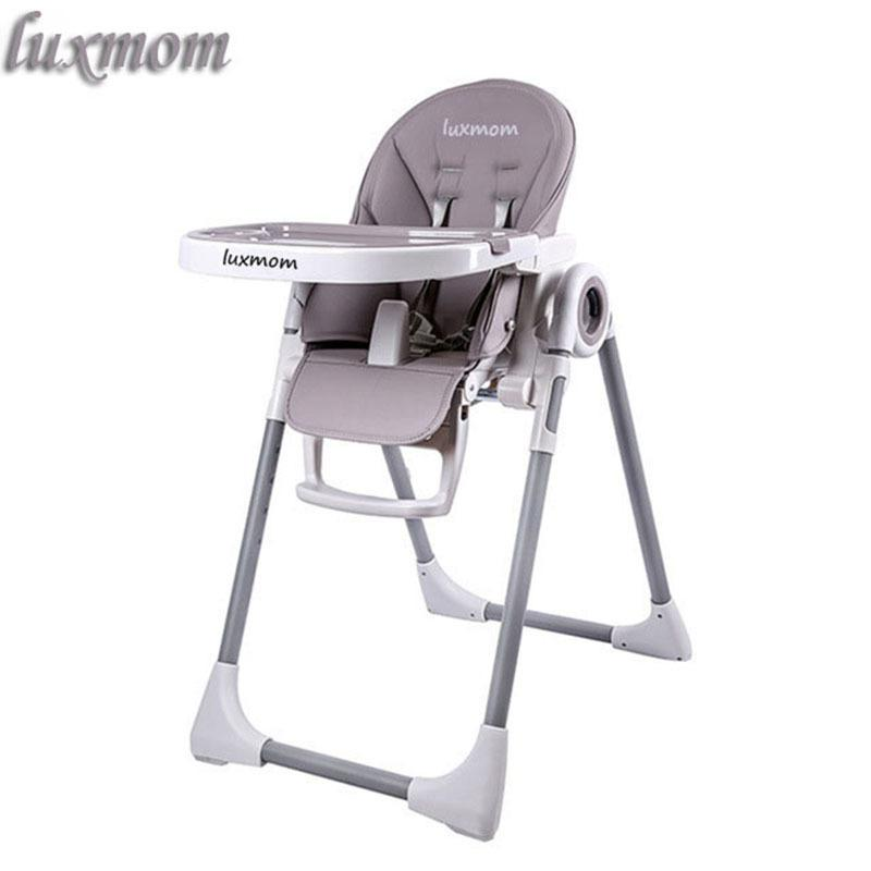 Luxmom Highchair foldable Easy to carry Baby chair tale Folding chair for children transforming chair CJ191217