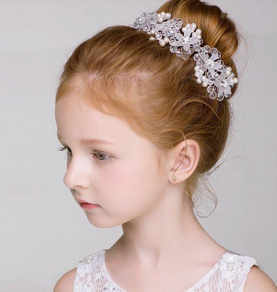 Çocuk şapkalar Koreli kız el işi saç tokası saç tokası prenses taç kızın saç klip bebek süsleri kafa bandı