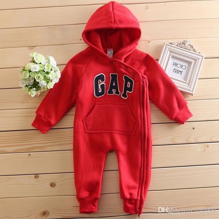Encapuzado Novas rompers bebê bonito Cotton Zipper jumpsuit roupas confortáveis para bebês recém-nascidos 0-24 m desgaste do bebê roupa do bebê recém-nascido