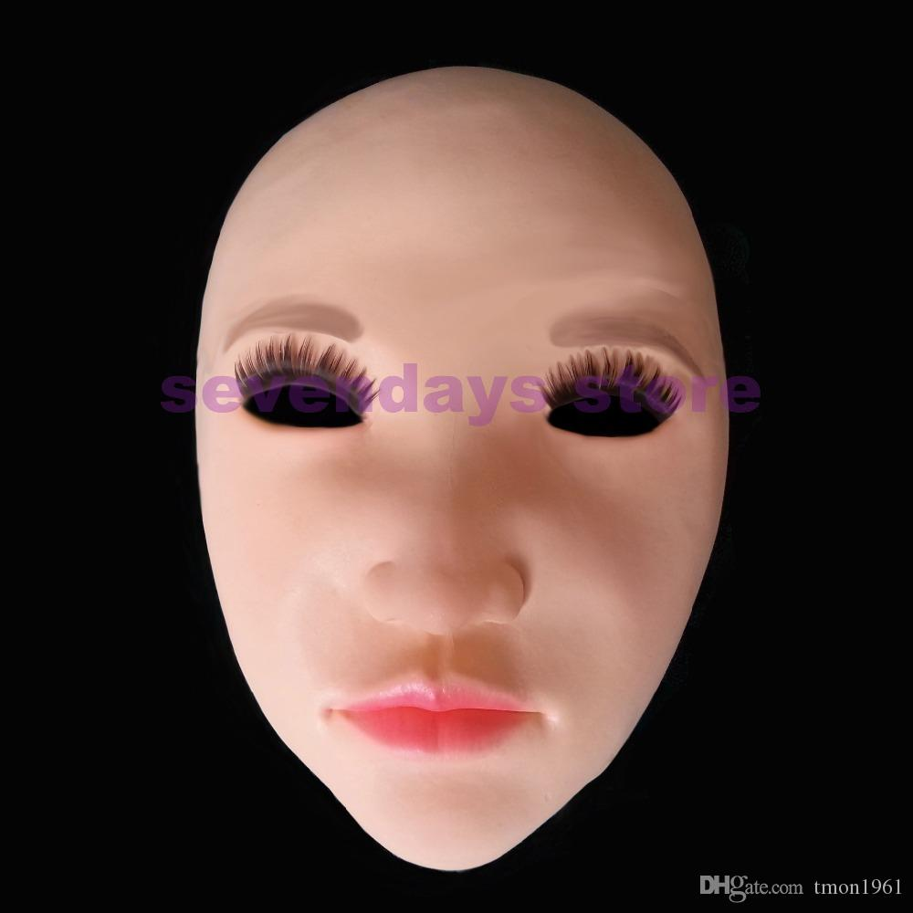 Hot Sale Handmade Silicone Sexy And Sweet Half Female Face Mask Ching Crossdress Mask Crossdresser Doll Lady Skin Mask toy