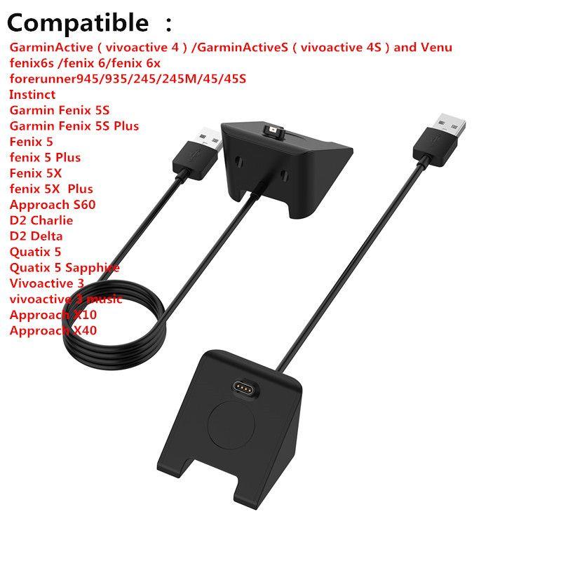 1m USB rapide Chargeur Câble Chargeur fil pour Garmin Fenix 6 6S 6X Pro Fenix 5 945 935 5X 5S VivoActive 3 Bracelet intelligent Accessorie