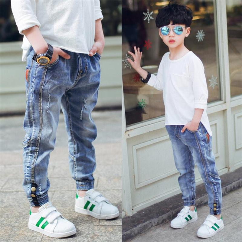 2019 New Children's Clothes Boy's Jeans, Spring And Autumn Big Boys Casual Leggings Ankle Length Trousers Kids Fashion Jeans. Y19051504