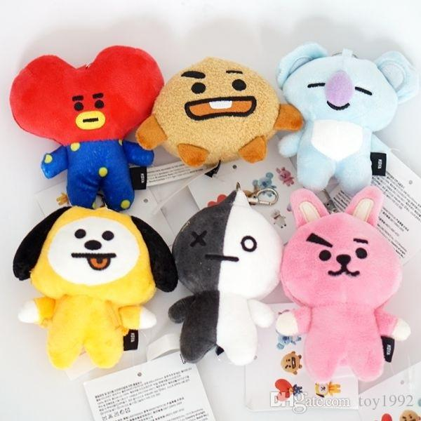 Bangtan Boys BTS pt21 12cm Plush Doll Toy RJ Cooky Chimmy Shooky Koya Plush Stuffed Toys for Children Kids Gift 88