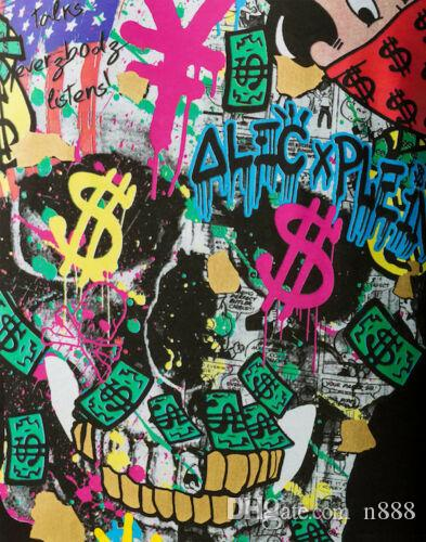 Alec Monopoly Oil Painting On Canvas Graffiti Art Decor wall decor Alec Plen Home Decor Handcrafts /HD Print Wall Art Canvas Pictures 191027