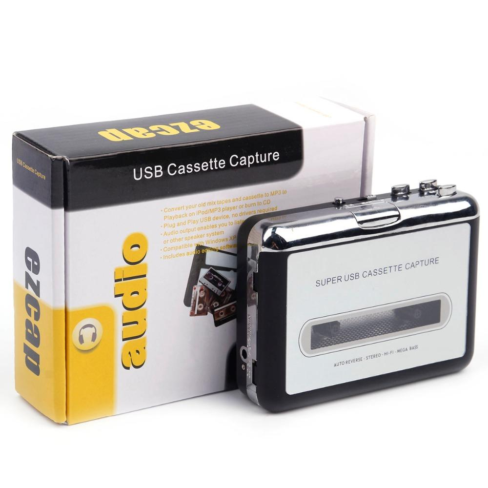Tragbarer MP3-Kassettensicherung auf USB-Band PC Super MP3 Music Player Audio Converter Recorder Spieler Cassette-to MP3