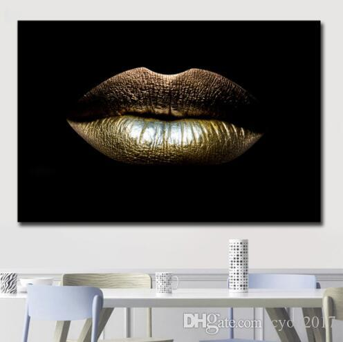 Sexy Lips Canvas Wall Art Pictures Cheap Dropshipping African Paintings For Living Room Wall Decoration Custom Poster and Prints b11