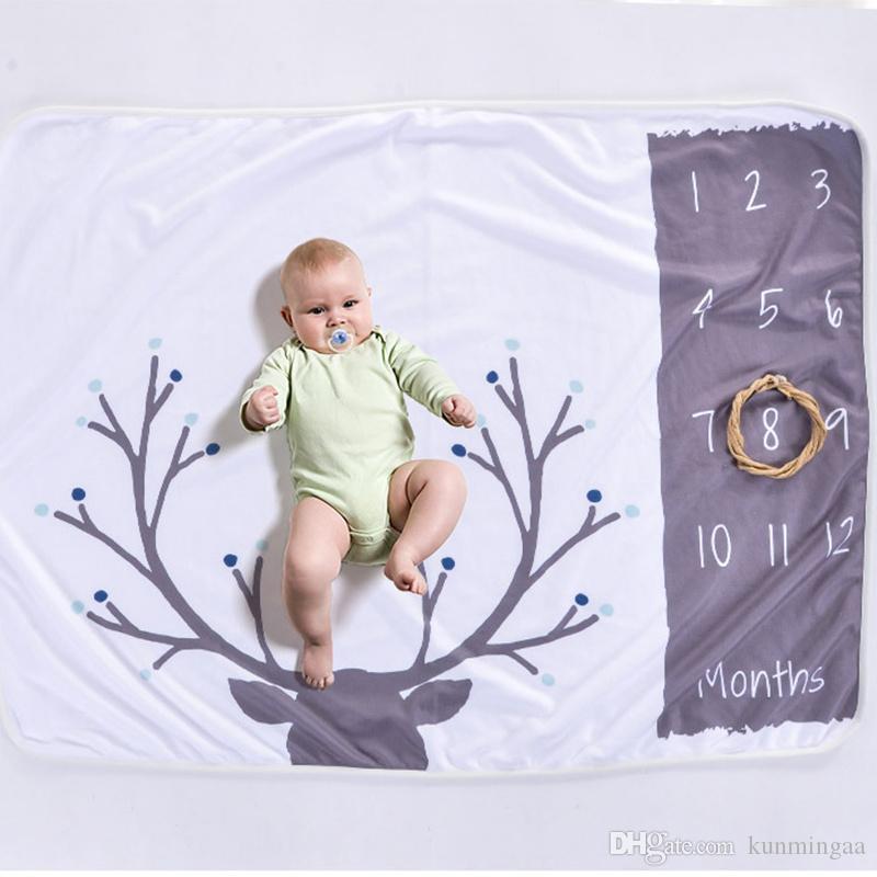 Bambina coperta neonato del fumetto Foto del fumetto della foto della coperta per la trapunta della biancheriata per il letto del divano Coperte della coperta dei neonati Puntelli della fotografia dei neonati 102 * 70cm