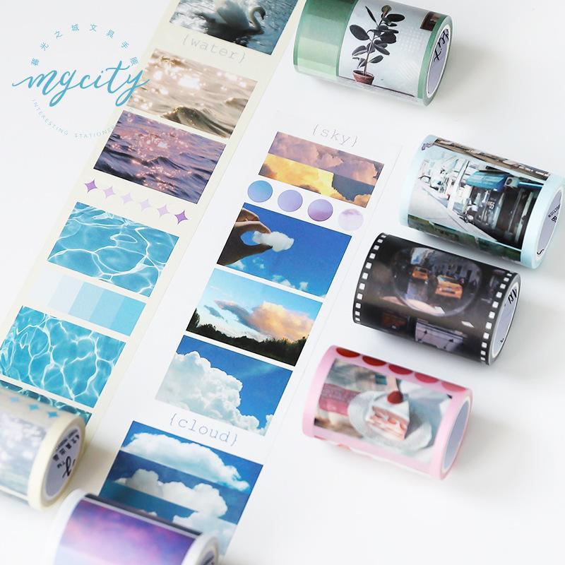 Sky Blue Cloud Washi Tape Diy Scrapbooking Etiqueta da etiqueta Masking Tape Escola fonte de escritório japonês Papelaria T200229 2016
