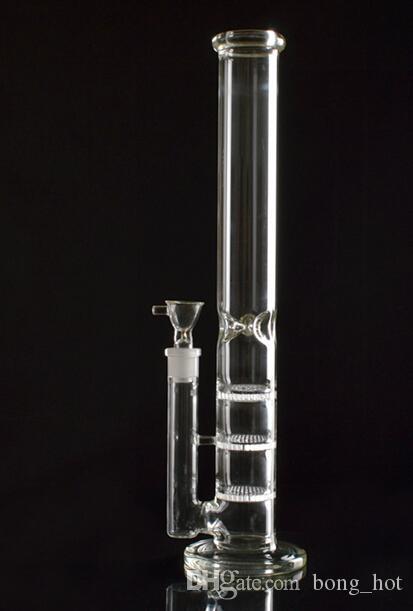 Nouvelle huile Rigs verre Bongs Grand Water Pipe Vase expédition gratuite Perc Percolateur Smoking Piper 18mm Joint épais Turbine Bras 43cm Hauteur
