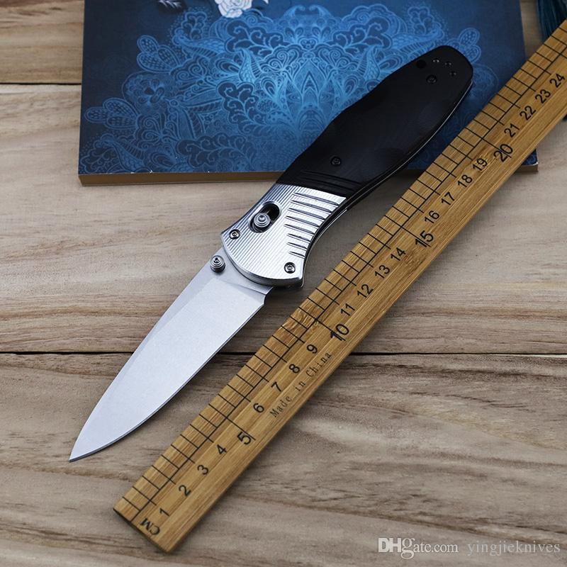 Promozione 581 D2 Coltello pieghevole in alluminio G10 con manico in acciaio tasca da campeggio esterna Coltelli da cucina per la caccia di sopravvivenza Coltello EDC