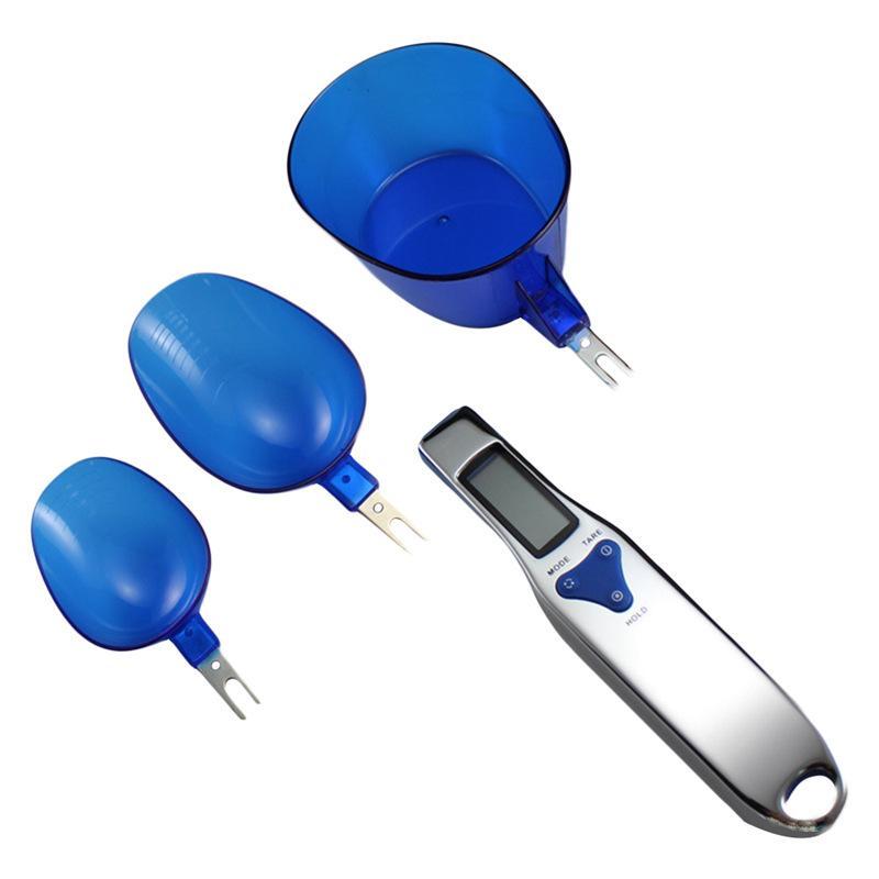 مقياس رقمي ملعقة العرض LCD مطبخ ملعقة مقياس 500G / 0.1G القياس الإلكترونية بره ملعقة مع 3 انفصال وزنها