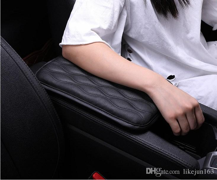 Soft Leather Car Armrest Pad Mat Seat Central Console Cover Car Interior Accessories Universal Size Waterproof