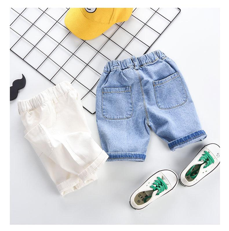 Kids Summer Designer Pants 2019 Brand Childrens Solid Color Jeans Boys Loose Elastic Waist Pants Wiht Package Fashion Unisex Casual Clothing