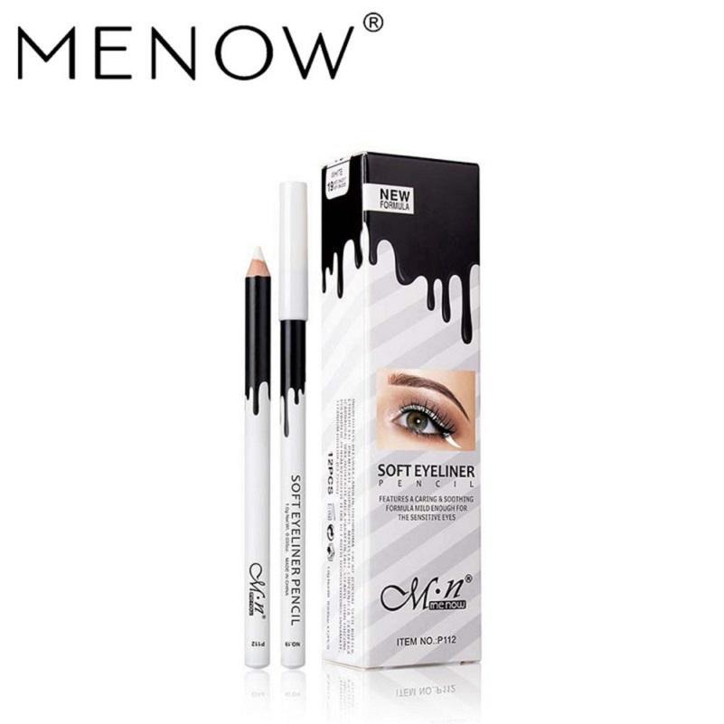Menow P112 الأبيض تسليط الضوء القلم مدرسة ستوديو 12 / مربع للماء قلم رصاص تسليط الضوء على عينيه كحل الشحن المجاني