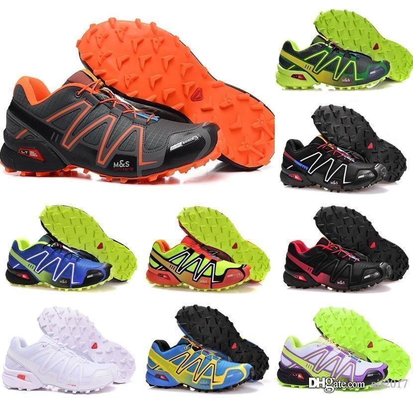 salomon Vendita a buon mercato Speed Cross 4 CS Scarpe da uomo Walking Jogging Scarpe da ginnastica SpeedCross 4 Scarpe uomo / donna 36-45