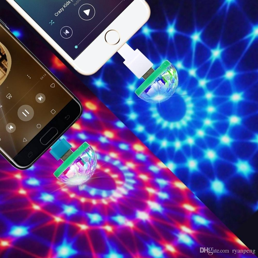 Acheter Mini Disco Light USB Boule De Noël LED Halloween Boules