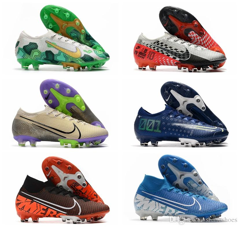2020 mens soccer shoes Mercurial Vapors 13 Elite AG CR7 soccer cleats Superfly 7 Elite SE AG football boots Ronaldo Neymar top quality 01