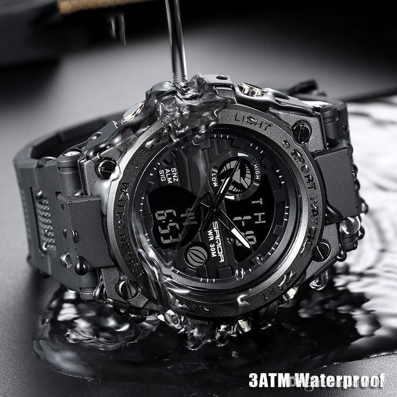 2019 mais novo relógio dos homens esporte multi-função à prova d 'água relógio digital dos homens ao ar livre esportes assistir alta qualidade frete grátis