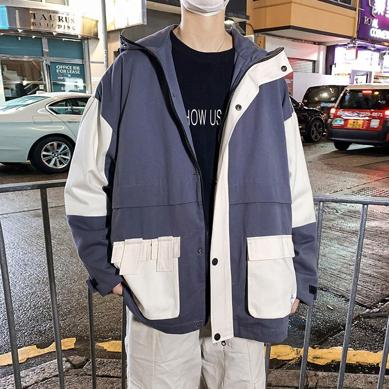 Outono Inverno 2020 marca fashion street patchwork Frozen tooling Youth jacket men's Hong Kong style