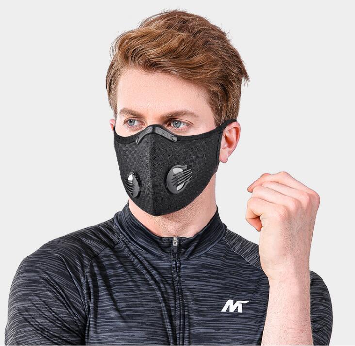 Netz Staub / Gasmaske mit Schutzumschlag, Radfahren Maske im Freien Smog Schutz für Männer und Frauen einstellbare Beatmungsmaske