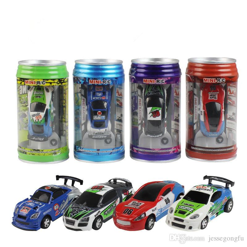 Rc cars 16 colors Mini-Racer Remote Control rc car Coke Can Mini RC Radio Remote Control Micro Racing 1:63 Car DHL Free