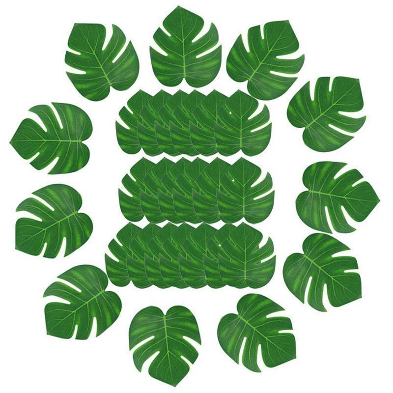 30Pcs artificiale tropicale foglie di palma della decorazione del partito Luau Hawa In, Palma tropicale Guinzaglio simulazione foglia artificiale per la casa Par