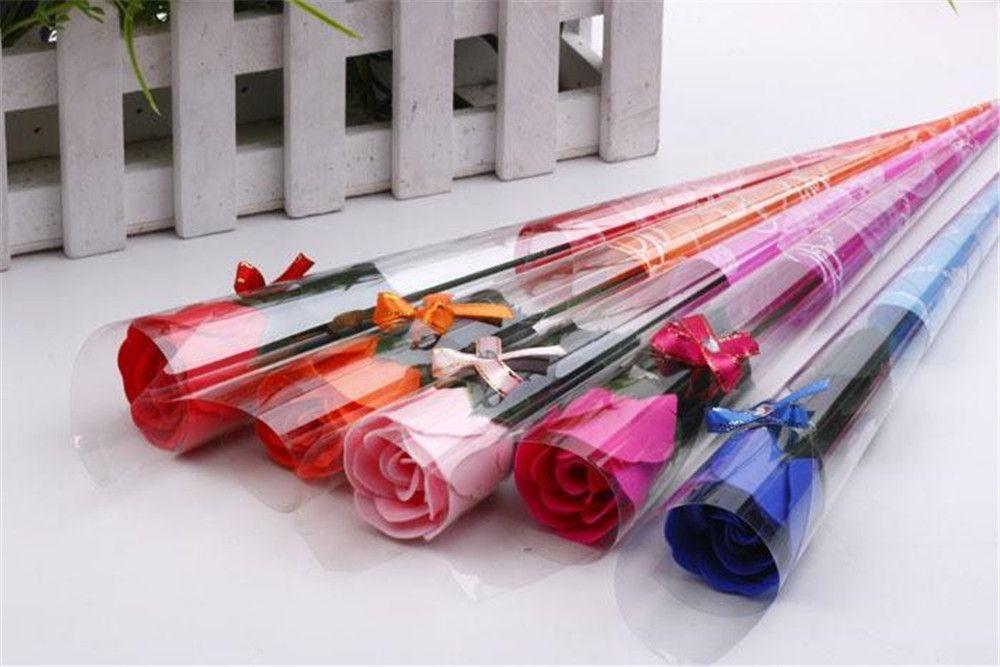 Festliche rote rosa rosa rot blau lila Seife Rose Blume Bad-Körper-Blumen-romantische Badseifenblumenblätter Hochzeit Dekoration Geschenke