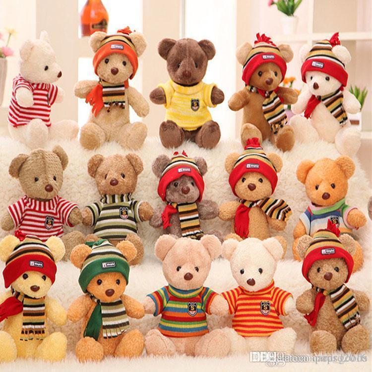 15 Stilleri 30 cm Gelen Sevimli Teddy Bear Peluş Yumuşak Oyuncak Teddy Bear çocuklar Için Dolması Peluş Oyuncaklar Hedi ...