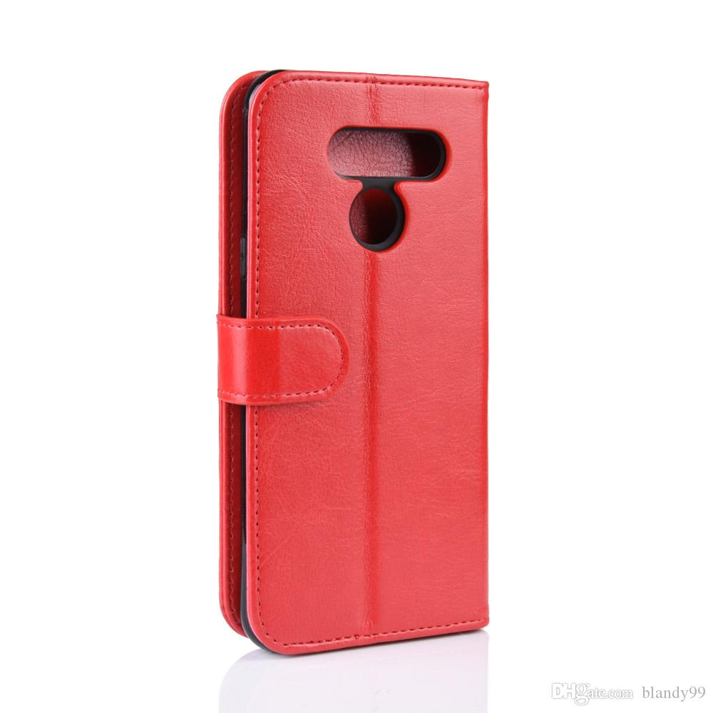 PHONE cases For LG Stylo 5 K50 K40 G7 G8 Q7 V50 V40 ThinQ 5G Crazy horse wallet stand leather card holder Case
