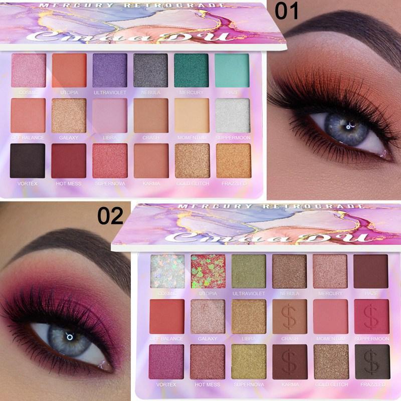 CmaaDu 9 Colors Shimmer Eye Shadow Palette Luminous Nude