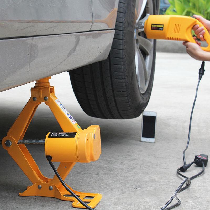 12V Elektrikli Makas Jack, Elektrikli Araba Araç Anahtarı Lastik Temizleyici Araç Hava Topu lastik lastik