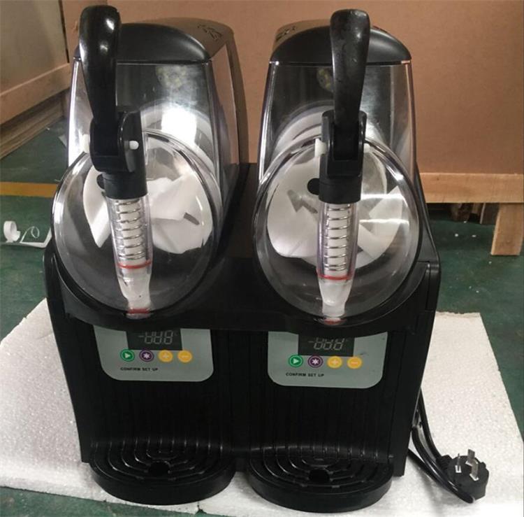 Çift tankı Slush makine 2.5L Dondurma yapma 300W Kar eritme makinesi Ticari Smoothies granita makinesi Buz Slusher