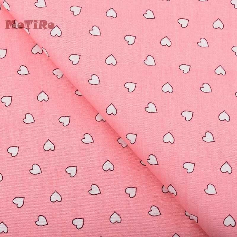 Motiro, imprimé Sergé de coton Tissu Pour mètre, coeur rose Motif Matériau / Bébé / Enfant / main / quilting / couture / feuille / oreiller