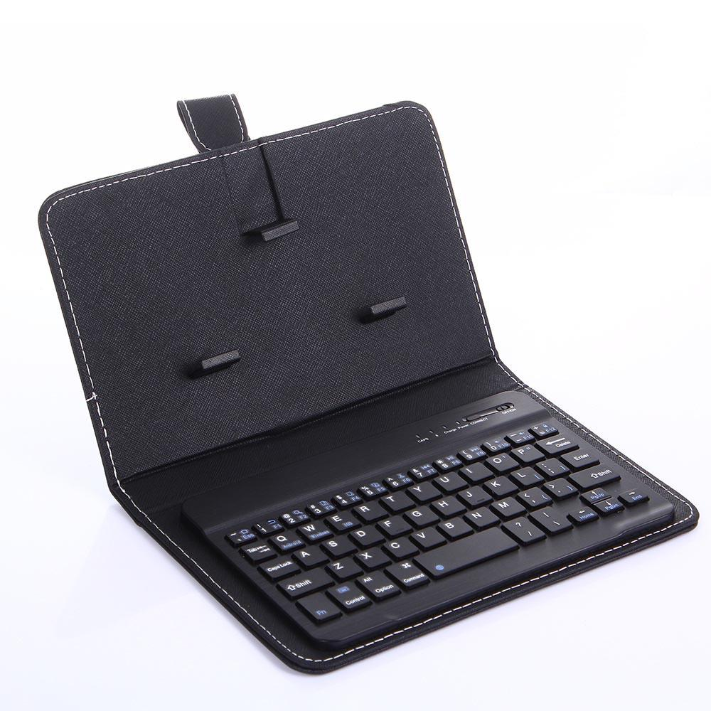 Neuer beweglichen PU-Leder-drahtloser Tastatur-Kasten für iPhone Schutz Handy mit Tastatur für Smartphone