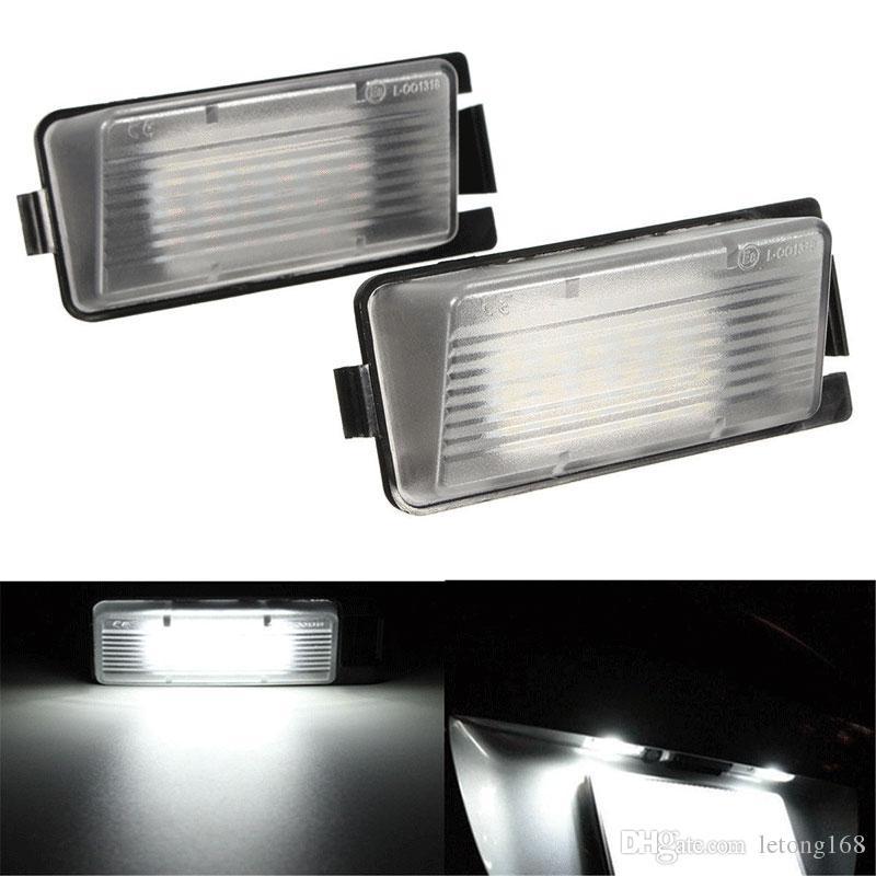 2pcs LED License Plate Lampe Pour Nissan 350Z 370Z GT-R Infiniti G35 G37 voiture Extérieur Accessoires Eclairage de plaque d'immatriculation