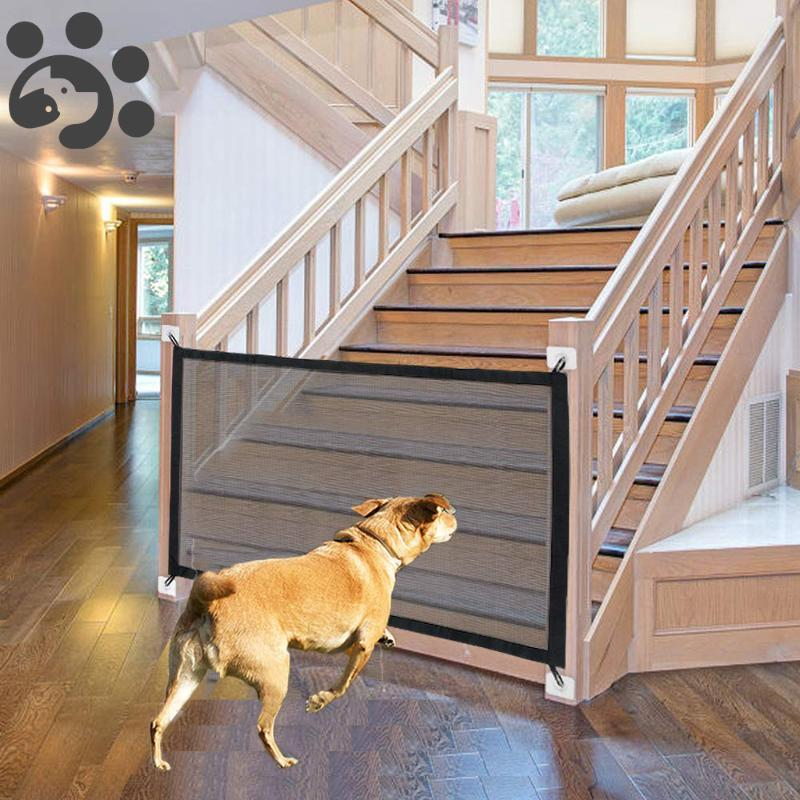 Home Mesh Dog Cage Fence Folding Dog Gate Playpen for Dogs Pet Cat Baby Cage Fence for Dogs Accessories Gate Crate Kennel