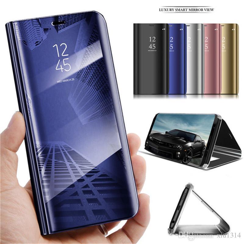 Cuero elegante de la caja del espejo para Xiaomi MI 10 Pro 10Lite Nota 10Pro 9T Pro 9 9Lite A3 Claro caja del teléfono Para redmi Nota 9s 9 8 Pro Max 8T 8A 9