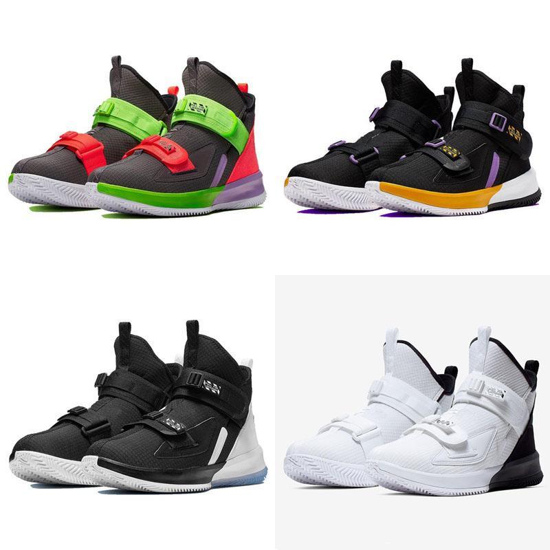 2020 nuevos zapatos de baloncesto de los Lakers Soldado 13 para la venta tamaño de la mejor calidad James 17 hombres de los muchachos Sport zapatillas de deporte de Estados Unidos 40-46