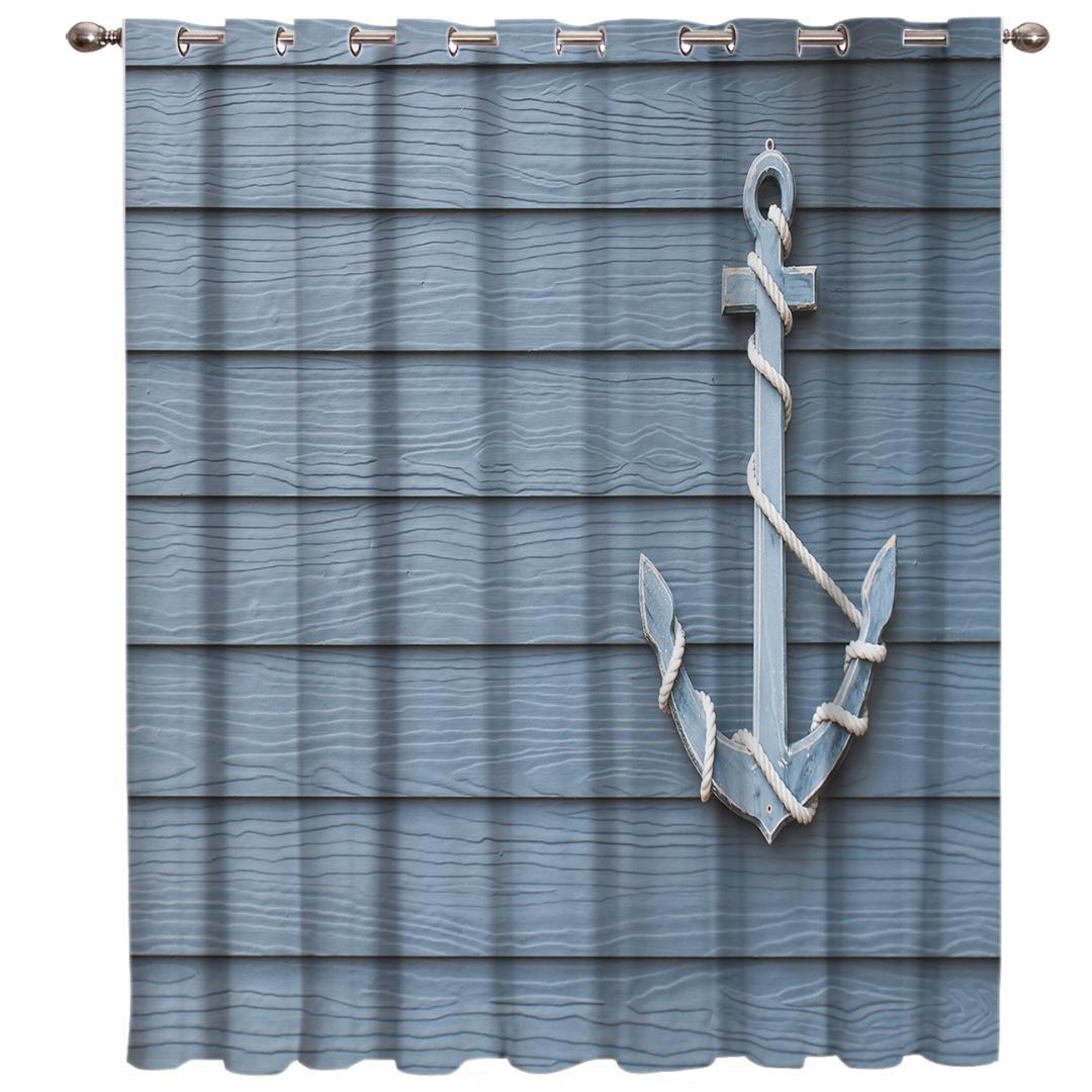 2019 Ship Anchor Window Treatments Curtains Valance Room Curtains Large Window Dark Living Room Bathroom From Huojuhua 22 13 Dhgate Com