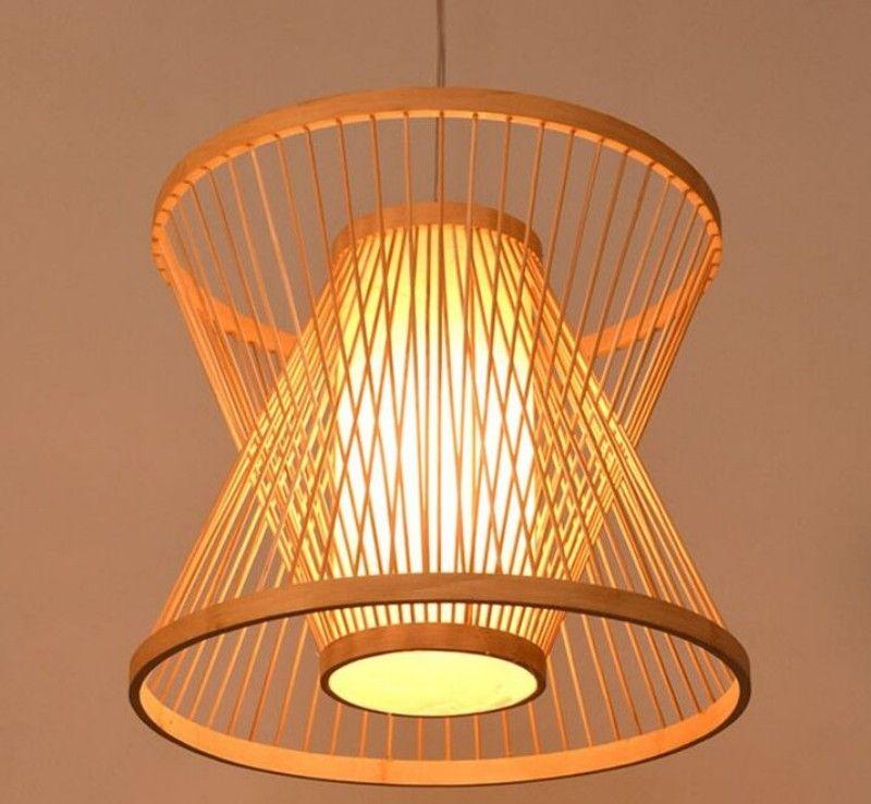 Bamboo Southeast Asian restaurant and teahouse pendant lights teahouse bamboo pendant lamp creative tatami balcony MYY