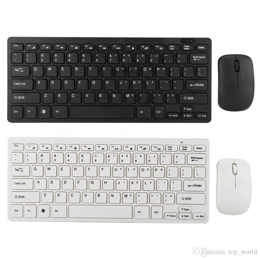 2.4G Mini Wireless Keyboard and Optical Mouse Set for Desktop Laptop Smart TV Keyboard membrane