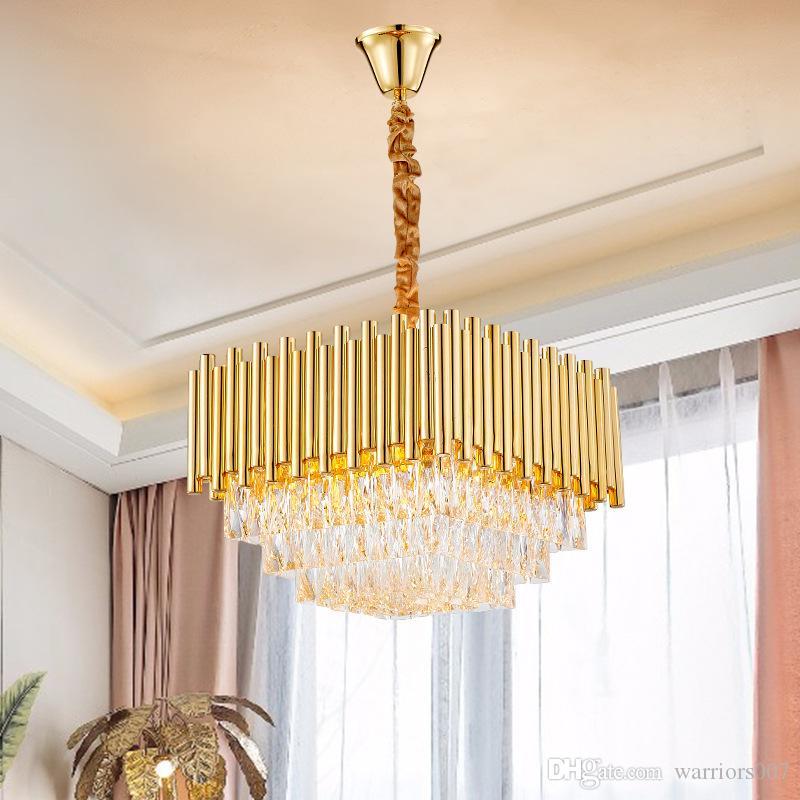 مصابيح جديدة الثريات غرفة المعيشة الحديثة الكريستال الفاخر الإبداعي شخصية نوم الثريات الفاخرة ضوء AC 90-260V
