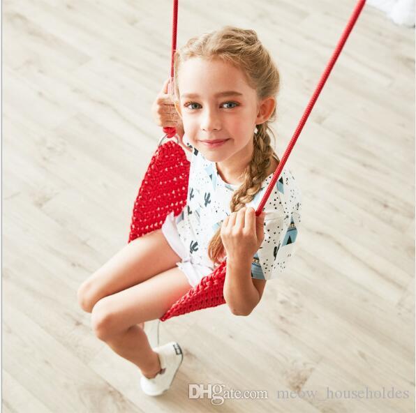Nylon net Seil gestrickt Schaukel Kinderschaukeln Indoor Sensory Swing für Kinderspielzeug Tragbare Schaukeln Sitz Baby Seil net Schaukel