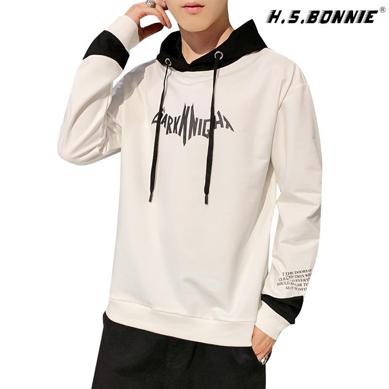 2020 Hoodies For Mens 2019 Autumn Nice Style Male Sweatshirt Patchwork Headwear Hip Hop Casual Loog Sleeve Streetwear Hoodie From Genguo 46 45 Dhgate Com