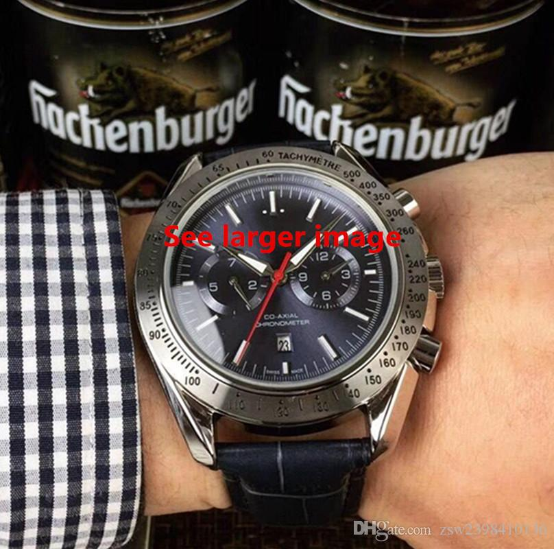 Relógio dos homens Clássicos de Alta qualidade 40mm movimento do relógio Mecânico relógios de luxo mostrador preto de aço Inoxidável banda relógio de Pulso