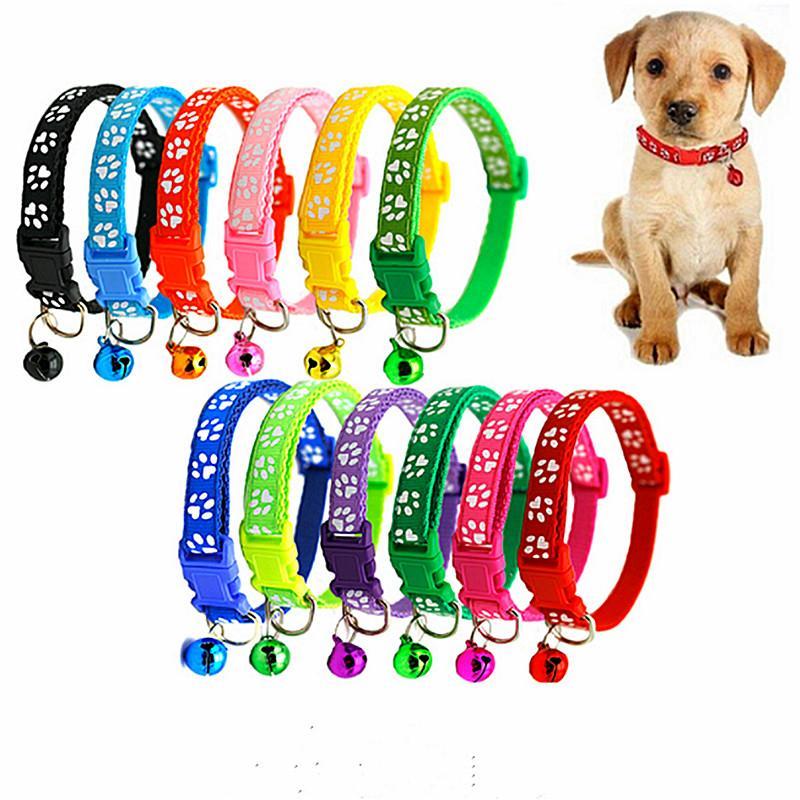 Nuovo fumetto cute pet collari cucciolo regolabile poliestere collana bella con campane Stampa collana del gatto collare di cane di alimentazione @ 3